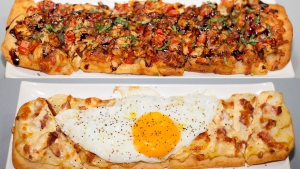 Flatbreads Chicken Bruschetta & Breakfast