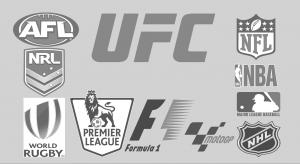 UFC, F1, Premier League, NRL, AFL, MotoGP, Rugby