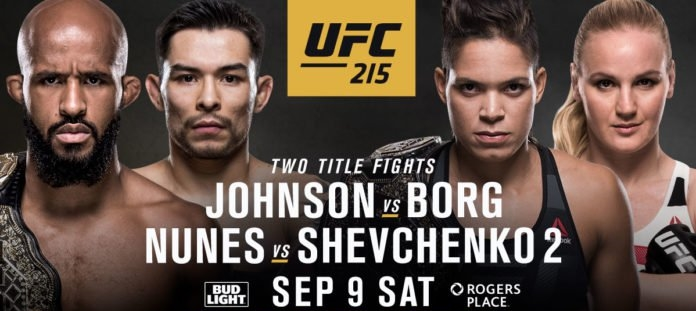 UFC 215 Johnson v Borg at My Place Lounge Chiang Mai